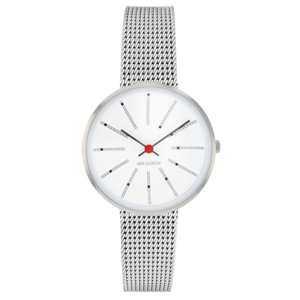 Arne Jacobsen Bankers Watch 30cm Silver/Mesh