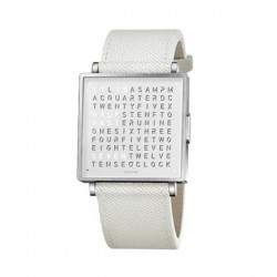 Biegert & Funk QLOCKTWO W35 Pure White French Grain Leather
