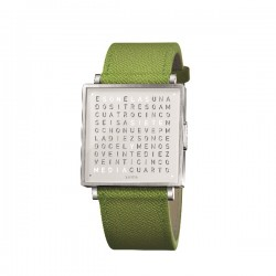 Biegert & Funk QLOCKTWO W35 Pure White French Leather Green