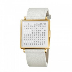Biegert & Funk QLOCKTWO W35 Gold White French Leather White