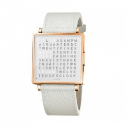 Biegert & Funk QLOCKTWO W35 Rose White French Leather White