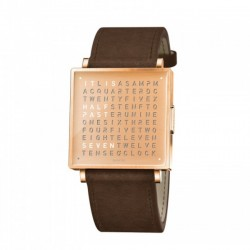 Biegert & Funk QLOCKTWO W35 Copper Leather Strap Brown