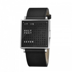 Biegert & Funk QLOCKTWO W35 Pure Black Leather Strap