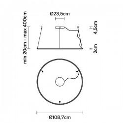 Fabbian Olimpic F45 A03 Hanging Lamp