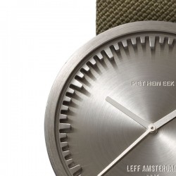 LEFF amsterdam tube watch D42 – steel with green cordura strap