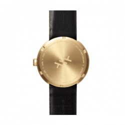 LEFF amsterdam tube watch D42 – brass with green cordura strap