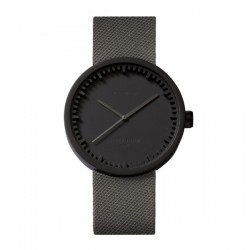 LEFF amsterdam tube watch D42 – black with grey cordura strap