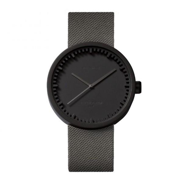 LEFF amsterdam tube watch D42 – black with grey cordura strap