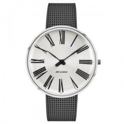 Arne Jacobsen Roman Watch White Dial, Grey Mesh