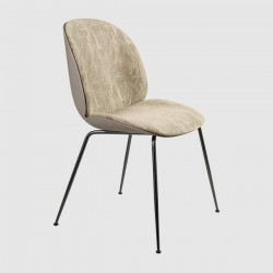 Gubi Beetle Chair Fully Upholstered Shell Conic Base