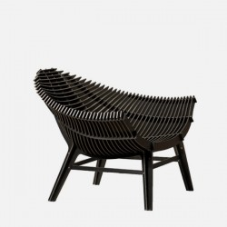 Ibride Manta Low Armchair Black