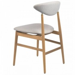 Gubi Gent Dining Chair - Fully Upholstered, Wood base