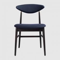 Gubi Gent Dining Chair - Fully Upholstered, Wood base