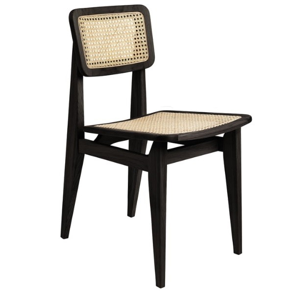 Gubi C-Chair Dining Chair - Un-Upholstered, All French Cane