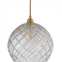 Ebb & Flow Rowan crystal lamp, large check, gold