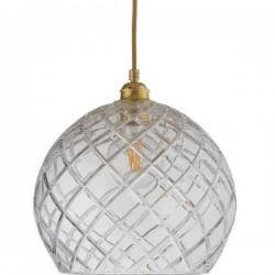 Ebb & Flow Rowan crystal lamp, large check, gold