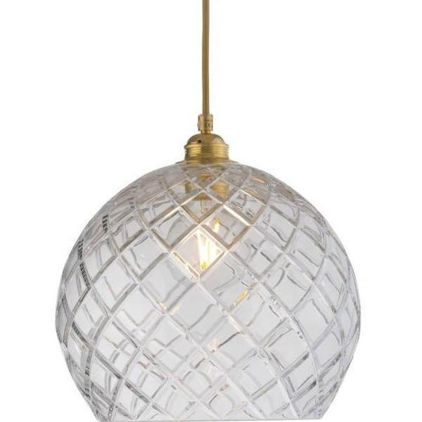 Ebb & Flow Rowan Crystal Lamp, Medium Check, Gold