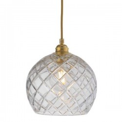 Ebb & Flow Rowan Crystal Lamp, Medium Check, Gold