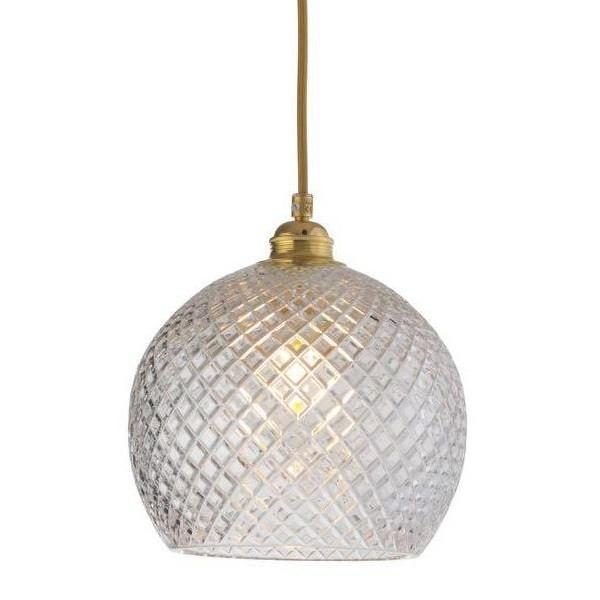 Ebb & Flow Rowan Crystal Lamp, Small Check, Gold