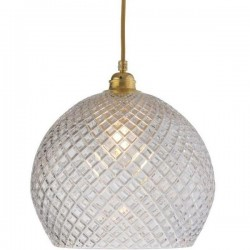 Ebb & Flow Rowan Crystal Lamp, Small Check, Gold