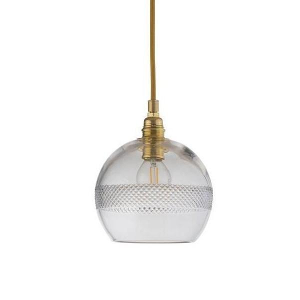 Ebb & Flow Rowan Crystal Pendant with Gold, Check Mini Stripe