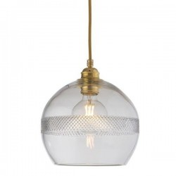 Ebb & Flow Rowan Crystal Pendant with Gold, Check Mini Stripe