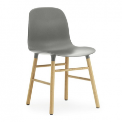 Normann Copenhagen Form Chair Oak Legs Grey