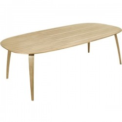 Gubi Dining Table - Wood - Elliptical