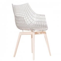 Driade Meridiana Chair Wooden Legs