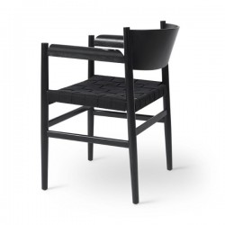 Mater Nestor Chair Black Beech Black Hemp Webbing
