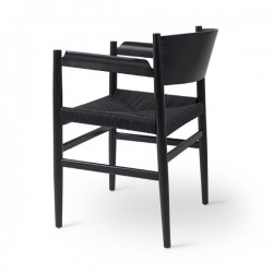 Mater Nestor Chair Black Beech