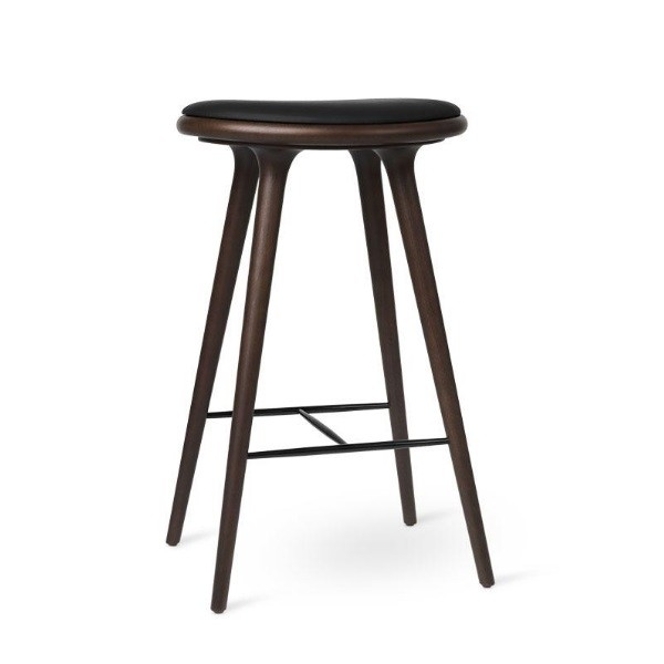 Mater  High Stool Dark stained Beech