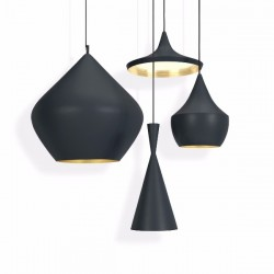 Tom Dixon Beat Tall Pendant Black