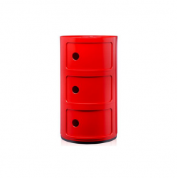 Kartell Componibili 3 Sections Red