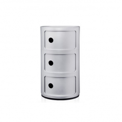 Kartell Componibili 3 Sections Silver