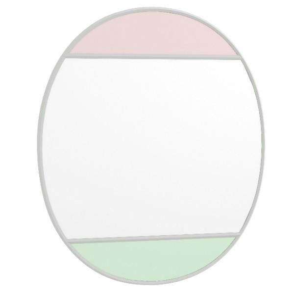 Magis Vitrail Mirror Oval Pink/Green