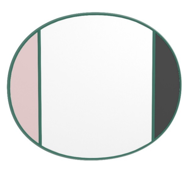 Magis Vitrail Mirror Oval Pink/Grey