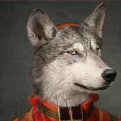 Ibride Le Loup Mural Tray