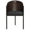 Driade Costes Easy Chair Grey Stripped wenge