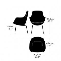 Fritz Hansen Little Giraffe Chair 3201 Fabric