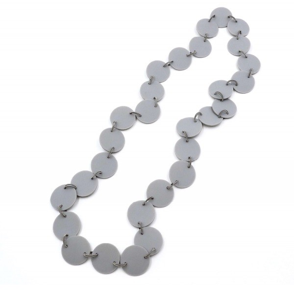 Materia Design Flat Long Necklace