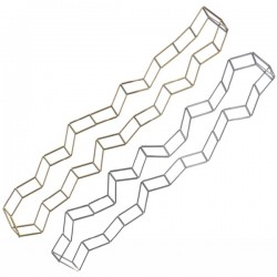 Materia Design Geometria Rettangolo Necklace