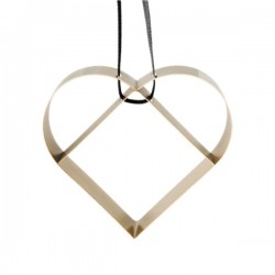 Stelton Figura Ornament Heart Brass Big
