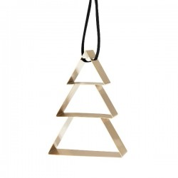 Stelton Figura Ornament Christmas Tree Brass Big