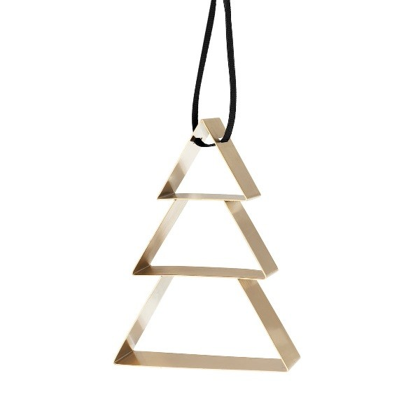 Stelton Figura Ornament Christmas Tree Brass Big