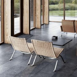 Fritz Hansen PK22 Lounge Chair Wicker