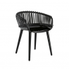 Magis Cyborg Club Chair Black/black wicker back
