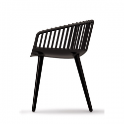 Magis Cyborg Club Chair Black/black wicker back