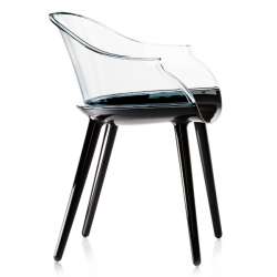 Magis Cyborg Chair Frame glossy black/back transparent clear