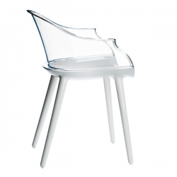 Magis Cyborg Chair Frame glossy white/back transparent clear